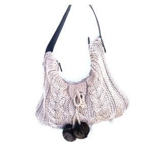 BATH AND BODY WORKS KNITTED HOBO PURSE